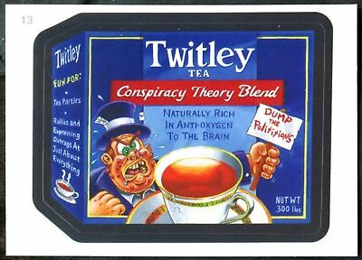Twitley Tea #13 Wacky Packages Series 7 Topps 2010 Sticker Trade Card (C1770)