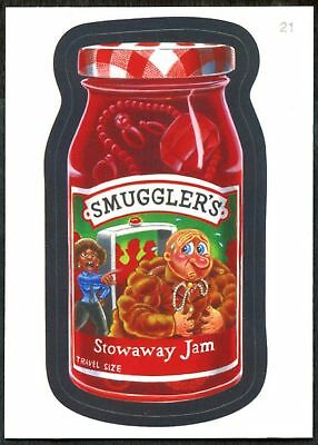 Smuggler's #21 Wacky Packages Series 7 Topps 2010 Sticker Trade Card (C1770)