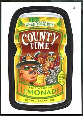 County Time #31 Wacky Packages Series 7 Topps 2010 Sticker Trade Card (C1770)