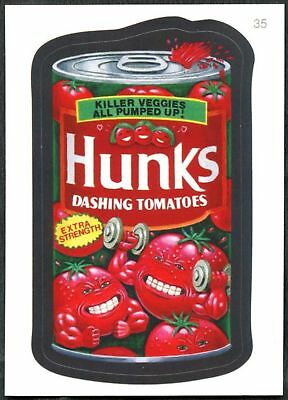 Hunks #35 Wacky Packages Series 7 Topps 2010 Sticker Trade Card (C1770)