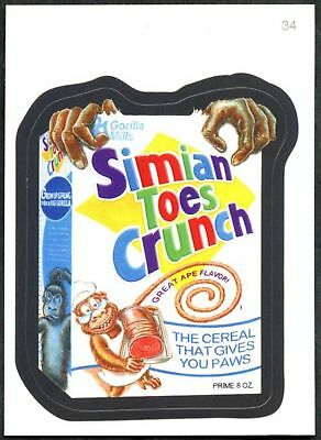 Simian Toes Crunch#34 Wacky Packages Series 7 Topps 2010 Sticker TradeCard C1770