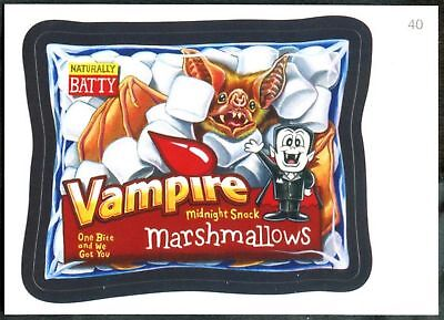 Vampire #40 Wacky Packages Series 7 Topps 2010 Sticker Trade Card (C1770)