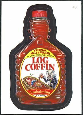 Log Coffin #43 Wacky Packages Series 7 Topps 2010 Sticker Trade Card (C1770)