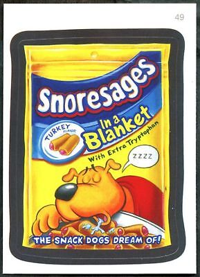 Snoresages  #49 Wacky Packages Series 7 Topps 2010 Sticker Trade Card (C1770)