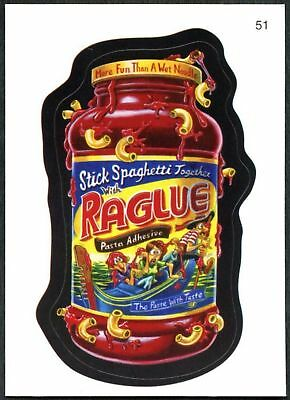 Raglue #51 Wacky Packages Series 7 Topps 2010 Sticker Trade Card (C1770)