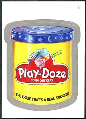 Play Doze #2 Wacky Packages Series 7 Silver Border Topps 2010 Sticker Card C1771