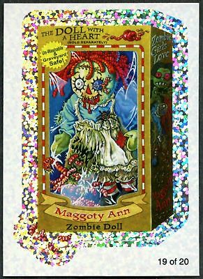 Maggoty Ann #19 Wacky Packages S7 Wack-O-Mercials Flash Foil Sticker Card C1772