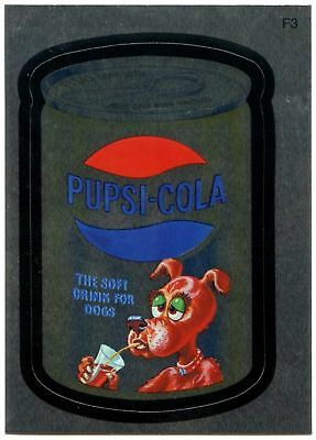 Pupsi-Cola #F3 Wacky Packages Series 7 Topps 2010 Foil Sticker Card (C1774)