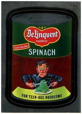 Delinquent Spinach#F4 Wacky Packages Series 7 Topps 2010 Foil Sticker Card C1774