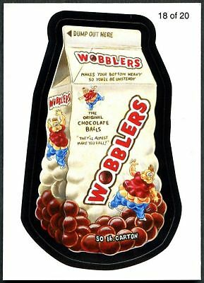 Wobblers #18 Wacky Packages Series 7 Wack-O-Mercials Sticker Chase Card C1775