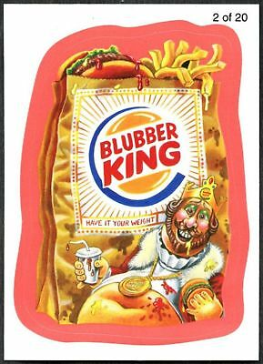 Blubber King #2 Wacky Packages S7 Red Wack-O-Mercials Sticker Chase Card C1776