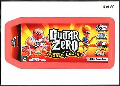 Guitar Zero #14 Wacky Packages S7 Red Wack-O-Mercials Sticker Chase Card (C1776)