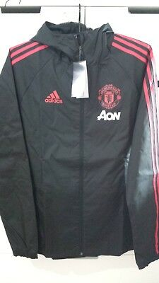 f0f9f8eaf Adidas Manchester United 2018-19 Men Football Soccer Training RAIN JACKET  CW7636