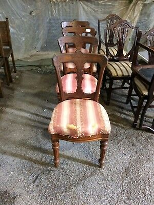 Four Lovely Quality Victorian Mahogany 'Anthean' Style Chairs