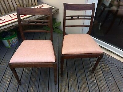 Pair Of Regency Side Chairs With Drop In Seats For Restoration