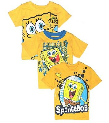 T Shirt Boys Toddler Baby Tee Short Sleeve Spongebob 12 18 24 Months 2t 3t 4t