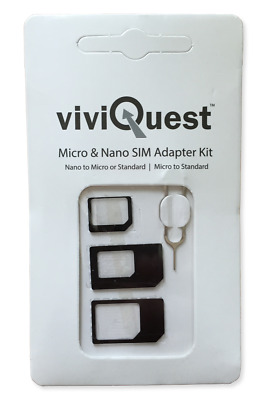 SIM Card Adapter Kit - Micro Nano Standard SIM Converter for All Sizes of SIMs