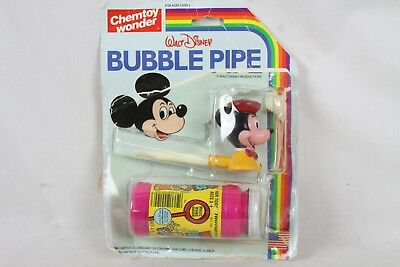 Vintage Mickey Mouse Chemtoy Wonder Disney Bubble Pipe on Card Collectable Rare