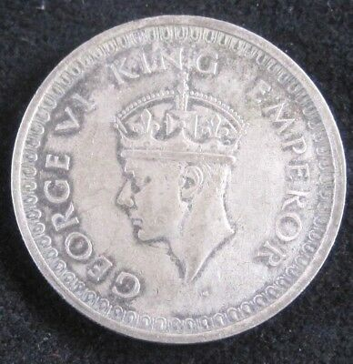 1942 B (with dot) British India One Rupee KM# 557.1 - Silver Coin