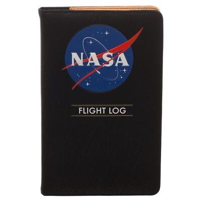 Nasa Flight Log Notebook Notepad Travel Wallet Journal Diary Ribbon Bookmarker