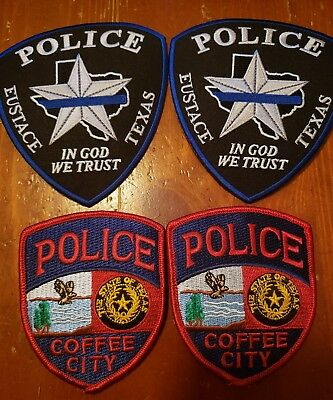 Lot of Texas Police Patches