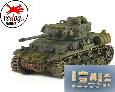 1:72 -  Panzer IV Ausf F2 stowage kit - resin military modeling accessories /v13