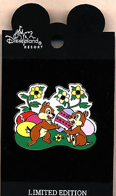 """DLR - Easter 2002 """"Chip 'n Dale"""" Easter Eggs Pin...Mint on Card!"""