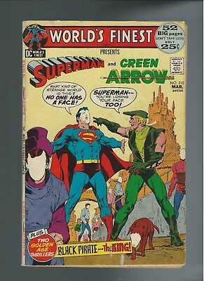 World's Finest Comics #210 (March 1972, DC) FN 6.0 Superman & Green Arrow