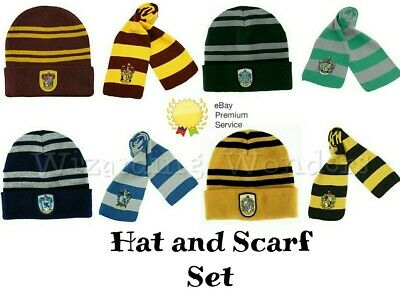 Harry Potter Hat and Scarf Gryffindor Slytherin Ravenclaw Hufflepuff Book Day