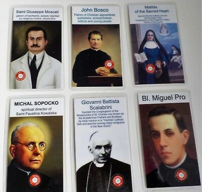Catholic Relic Cards- Saints and Important Religious Holy Persons (unusual)