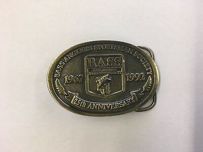 Bass Anglers Sportsman Society 25th Anniversary 1992 Belt Buckle