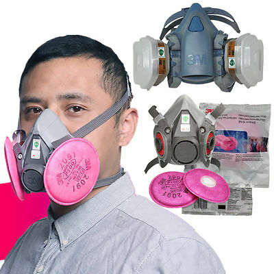 New Gas Mask 3M 6200 501 5N11 6001 2091 7502 Painting Spray Respirator