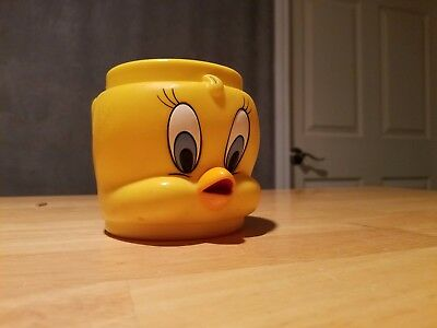 Looney Tunes 3D 'tweety Bird' Plastic Kids Cup Mug 1992 Collectable Vgc
