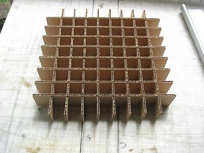 "Cardboard Dividers 5 Sets 12"" X 12"" X 2"" High 81 cell B 12-2-08"