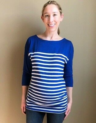 Old Navy Maternity Blue Striped Top