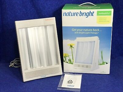 NATURE BRIGHT SUN TOUCH PLUS UV LIGHT ION THERAPY SAD HEALING WELLNESS LAMP Time