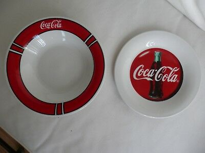 Lot of 2 Gibson Coca Cola Items, 1997, Bowl & Small Plate