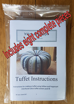 Willow and Pepperpot tuffet pattern, tuffet pieces pack, footstool, sewing gift
