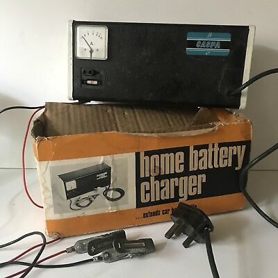 Rare Vintage Caspa Home Battery Charger 6 or 12 Volt Extends Car Battery Boxed