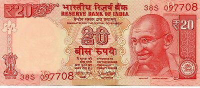 INDIA 20 Rupees 2017 P NEW Letter R UNC Banknote