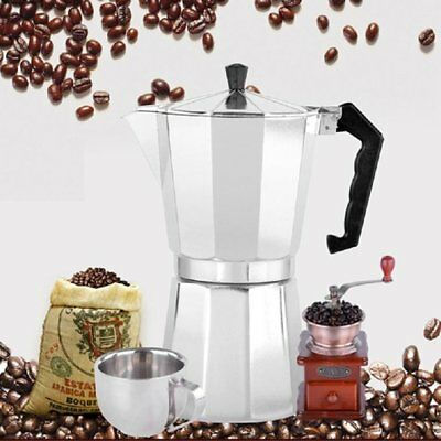 COFFEE PERCOLATOR 3 Cup Pots Espresso Coffee Aluminium Perculator Moka Y1