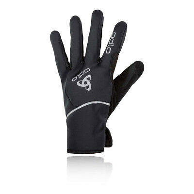 Odlo Mens Windproof X-Warm Gloves Black Sports Outdoors Running Warm Breathable