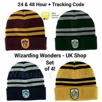 3332734333fcf Harry Potter Hat Set Fancy Dress Gryffindor Slytherin Ravenclaw Hufflepuff  Gift