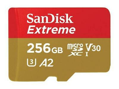 SanDisk 256GB Extreme microSDXC UHS-I/U3 A2 Memory Card with Adapter, Speed Up t