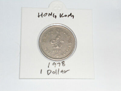 1978 Hong Kong 1 Dollar coin one dollar Queen Elizabeth II QEII