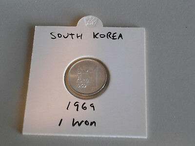1969 South Korea 1 Won coin South Korean one won