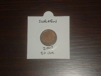 2007 Sweden 50 Ore coin Swedish fifty ores