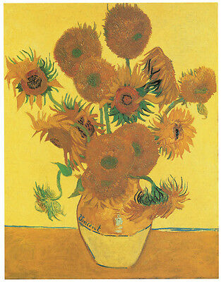 Van Gogh - Vase with Fifteen Sunflowers (1888) Art Canvas/Poster Print A3/A2/A1
