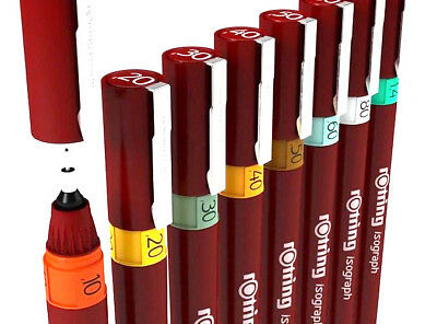 Rotring Isograph Pen Rotring Technical Drawing Pens Fineliners Draughtsmen Pens