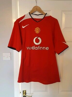 687992736d5 Manchester United Football Shirt Jersey Home 2004 06 Nike Large Mens  Vodafone